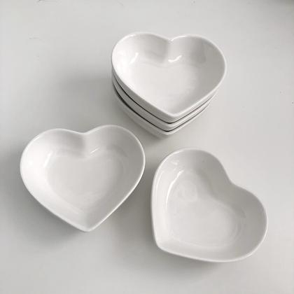White Heart Dish