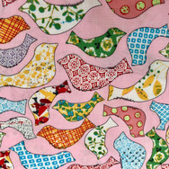 33 Pink Patchwork Birds