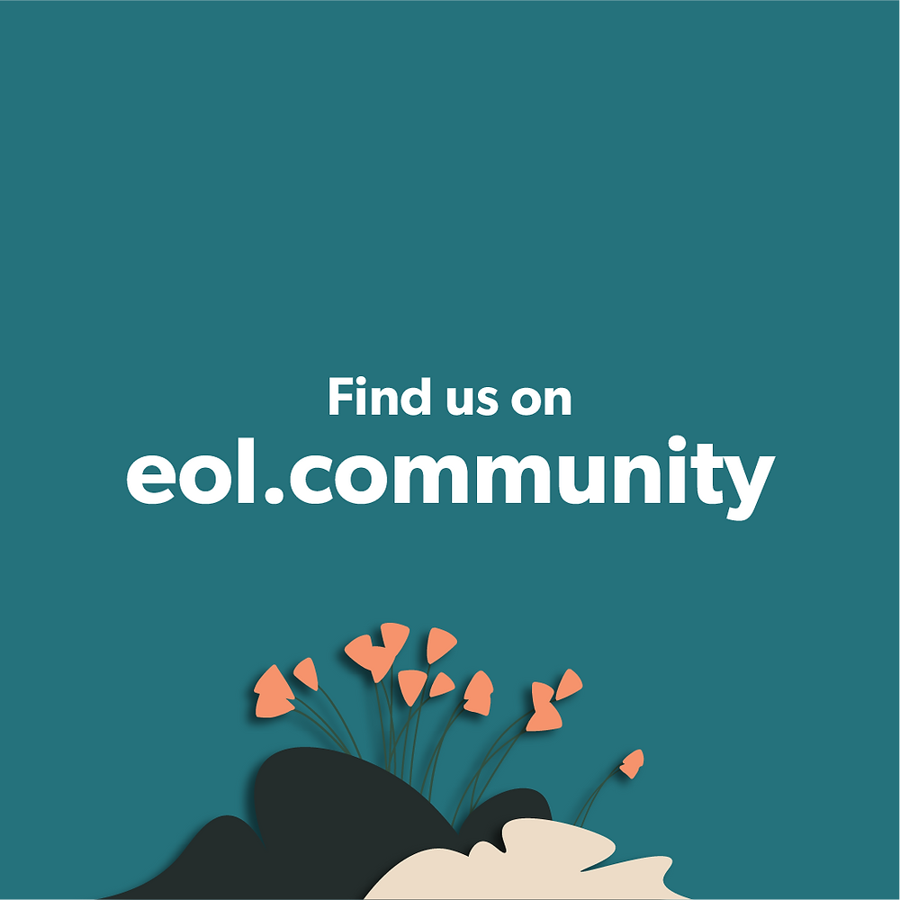 "The image says ""find us on eol.community"""