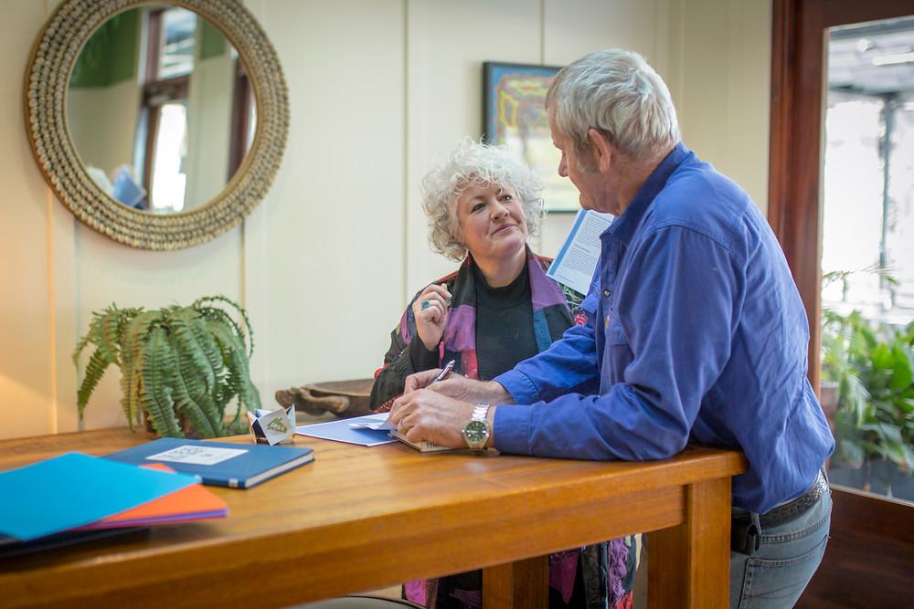 Dr Annetta Mallon and client
