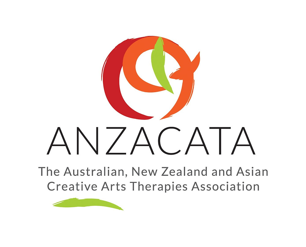 The red, orange and green circular logo for ANZACATA The Australian, New Zealand and Asian Creative ARts Therapies Association