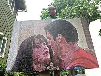 40 x 60 inch Lois & Superman