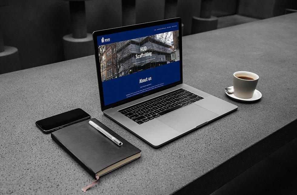 HUD Scaffolding Website on Macbook