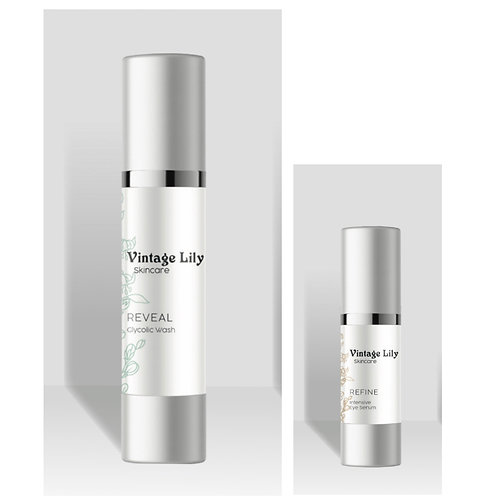 Reveal & Refine Package (glycolic wash and eye serum)