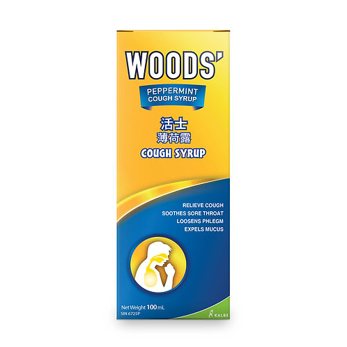 WOODS' PEPPERMINT COUGH SYRUP ADULT100ML