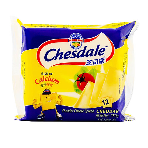 Chesdale Cheddar Cheese Slices - Original 2 x 250g (12 per pack)
