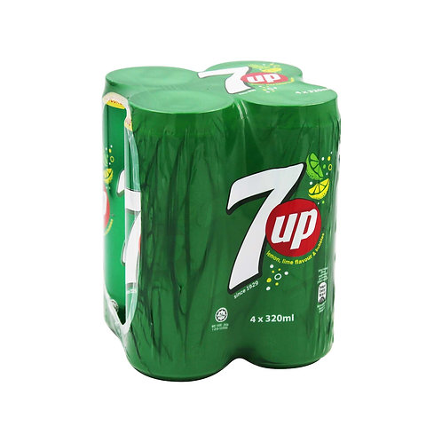 7 UP Can Drink 4 x 320ml