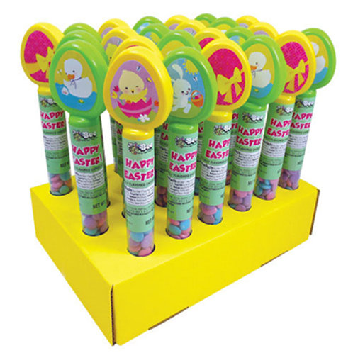 EASTER TUBE W/ CHOCOLATE BUTTONS - 24 COUNT