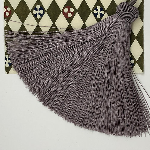 Large Tassel with Knot ~Silver