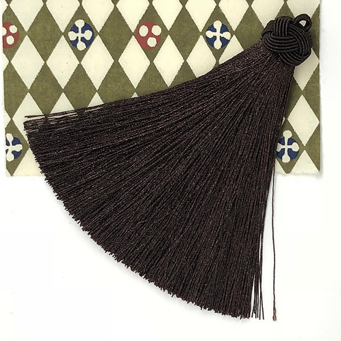Large Tassel with Knot ~Dark Brown