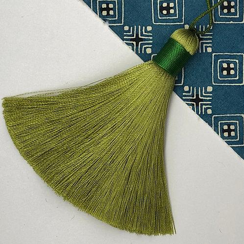 Medium Tassel ~ Olive Green