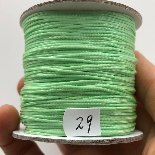 Chinese Knotting Cord ~ Green Splash