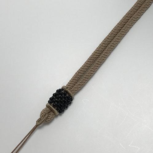 Cotton necklace ~ Latte