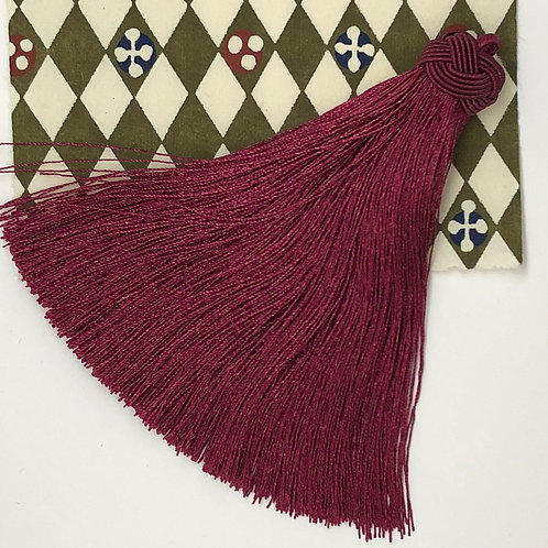 Large Tassel with Knot ~ Red Rose