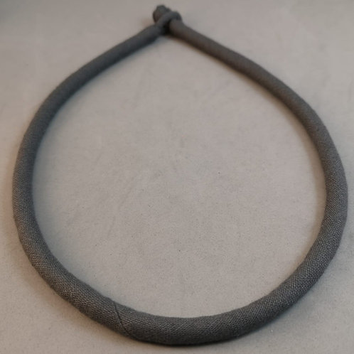 Linen Necklace ~Grey