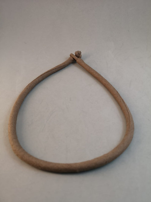 Linen Necklace ~ Taupe