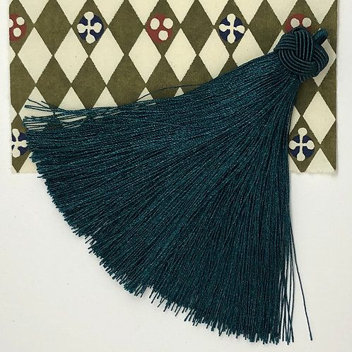 Large Tassel with Knot ~ Peacock Blue