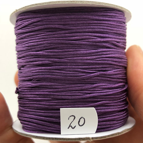 Chinese Knotting Cord ~ Amethyst