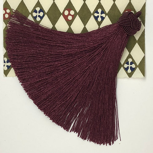 Large Tassel with Knot ~ Burgundy