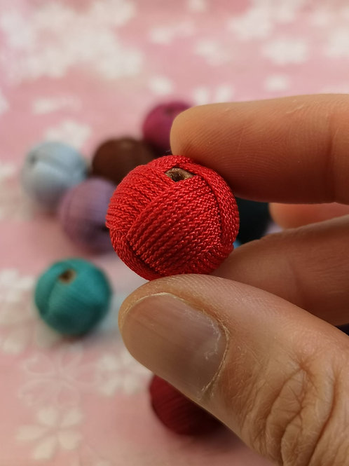 String Woven Bead ~ Chinese Red