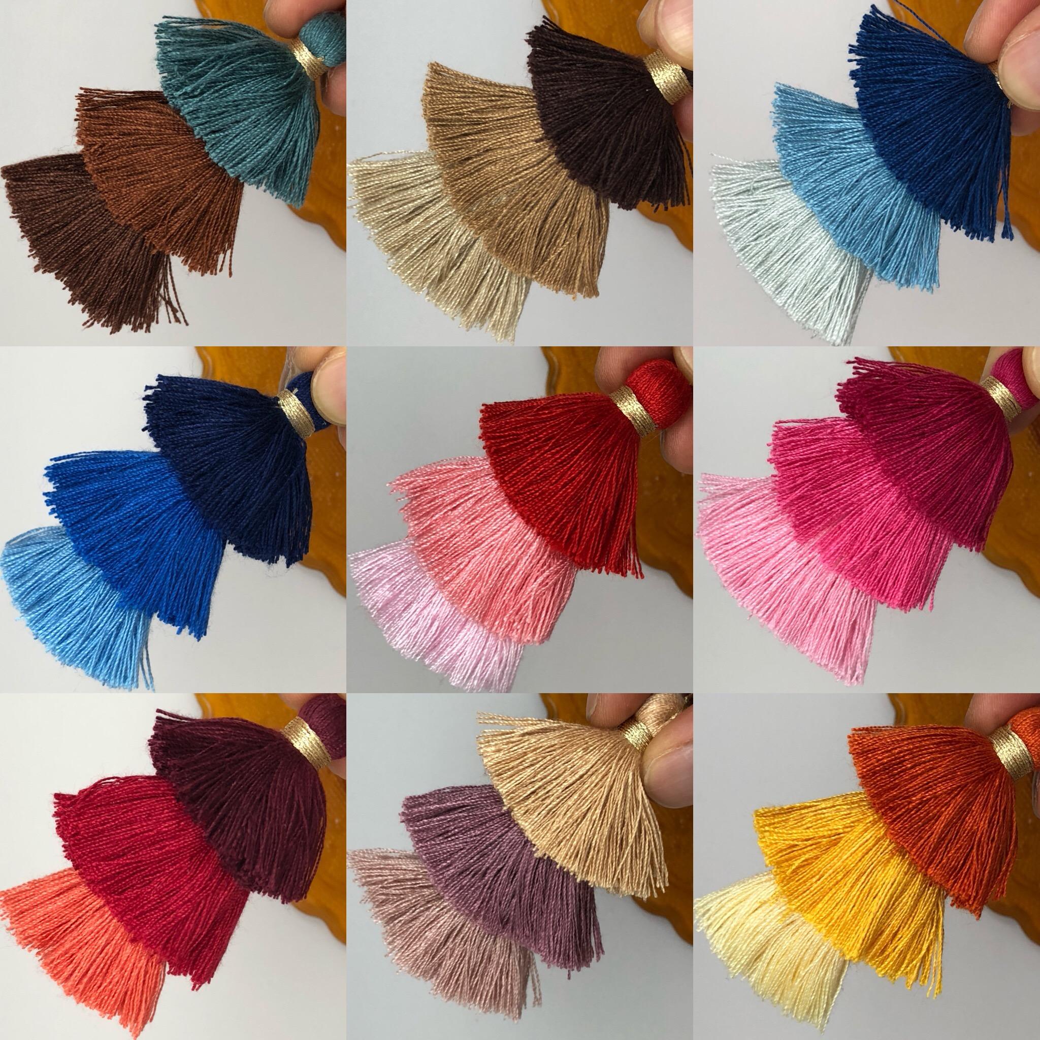 Tricolor cotton tassel