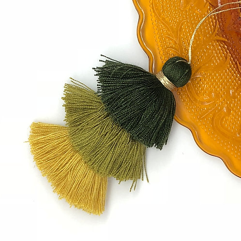 Cotton tassel ~ #10 Moss, Avocado, Mustard