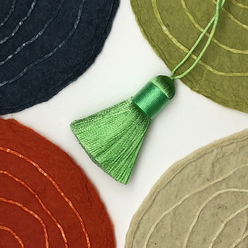 Small Tassel ~ Green Splash