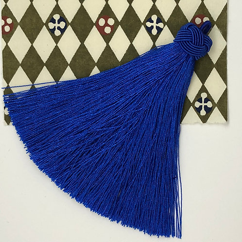 Large Tassel with Knot ~ Royal Blue