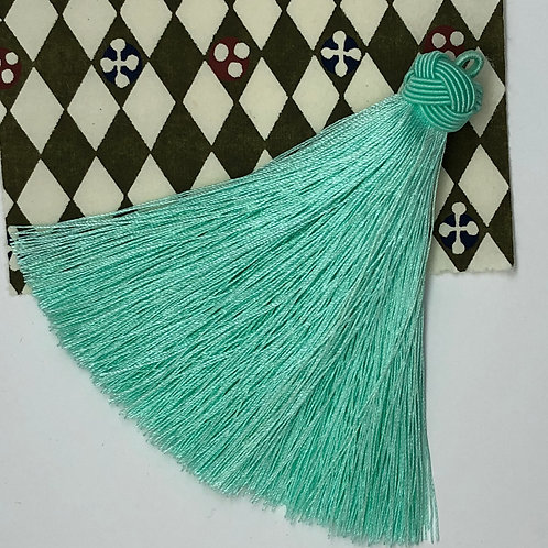 Large Tassel with Knot ~ Mint
