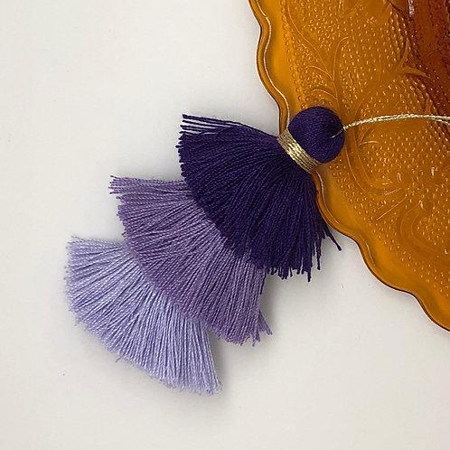 Cotton tassel ~ #13 Purple, amethyst, lilac