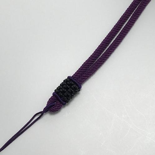 Cotton necklace ~ Purple