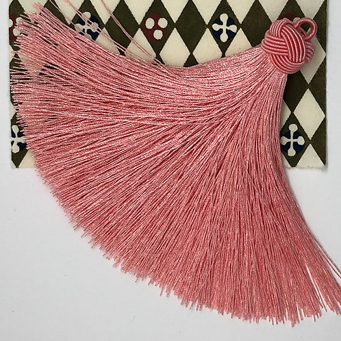 Large Tassel with Knot ~ Orange Cream