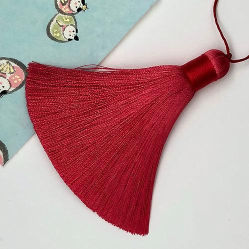 Medium Tassel ~ Red Coral