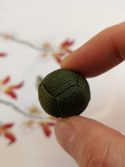 20mm String Woven Bead ~ Olive