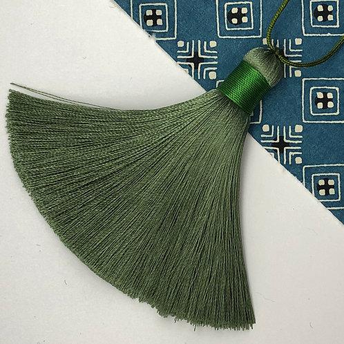 Medium Tassel ~ Green Olive