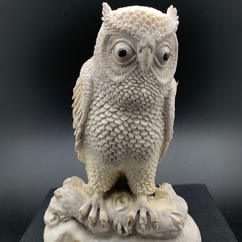 Moose Antler Carving: Extra Large Owl