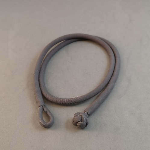 Cotton Necklace with hand braided knot~ Silver