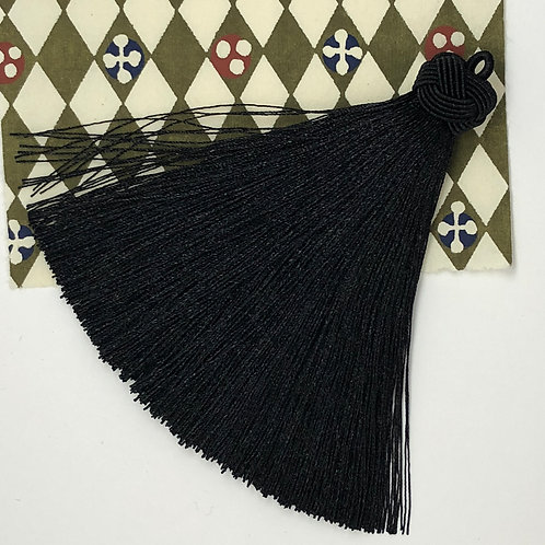Large Tassel with Knot ~ Black