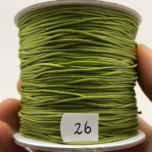 Chinese Knotting Cord ~ Green Olive