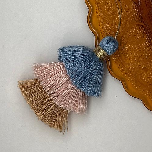 Cotton tassel ~ #19 Powder blue,Orange creme, beige