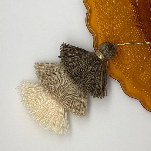 Cotton tassel ~ #8 Light taupe, beige, almond