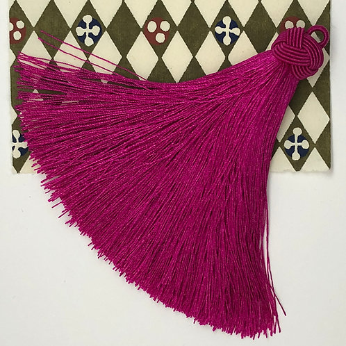 Large Tassel with Knot ~Tart Cherry