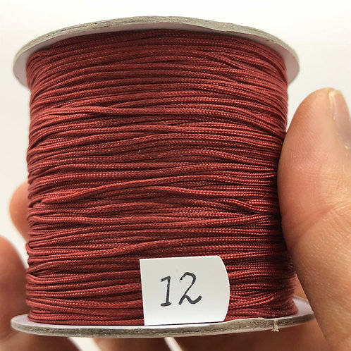 Chinese Knotting Cord ~ Rustic Red