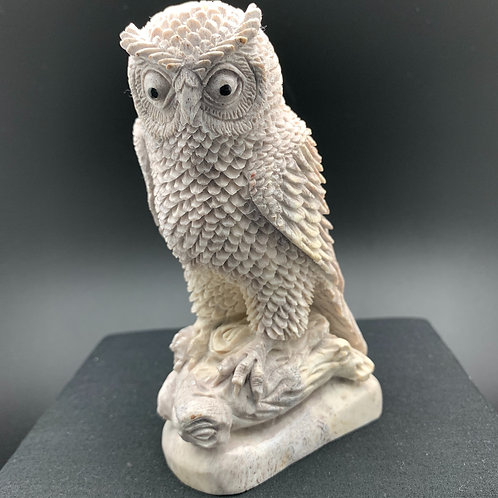 Moose Antler Carving: Owl