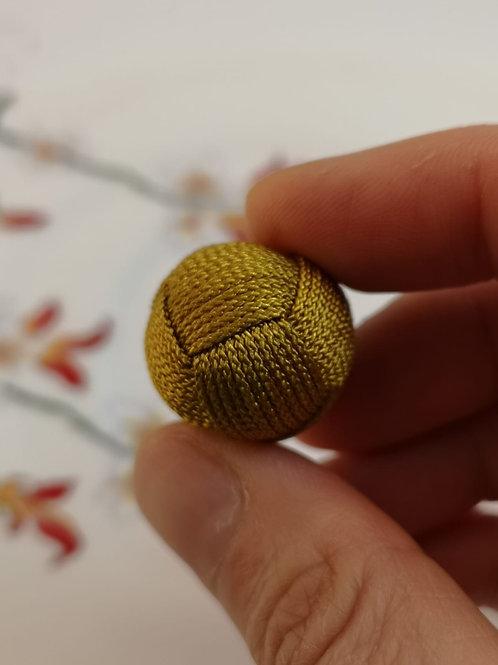 20mm String Woven Bead ~ Mustard