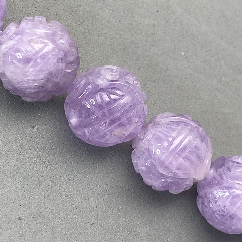 Amethyst ~ 18mm Natural color, intense purple and translucent