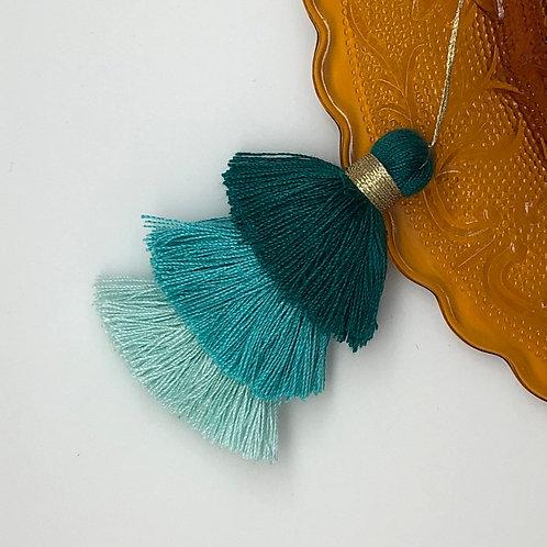 Cotton tassel ~ #15 Green, Aqua, Serenity