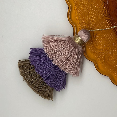 Cotton tassel ~ #21 Pink, purple, Mocha