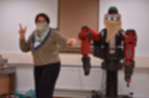 Baxter Project, robot theatre, actor Baxter, Stella Keramida