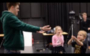 Baxter Project, robot theatre, children performers
